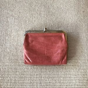 Hobo International Pink Double Frame Wallet